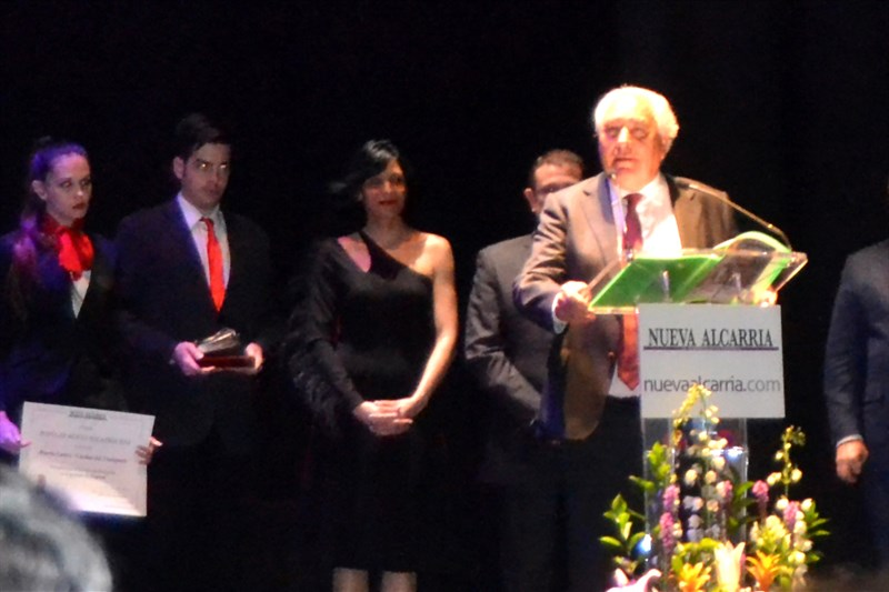 Juan Jose Cercadillo García receives the populares Nueva Alcarria Award